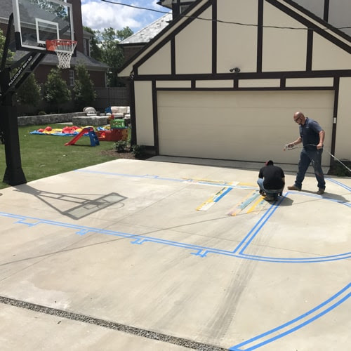 Fort Worth Athletic Court Marking Dallas Basketball Court Striping Dfw