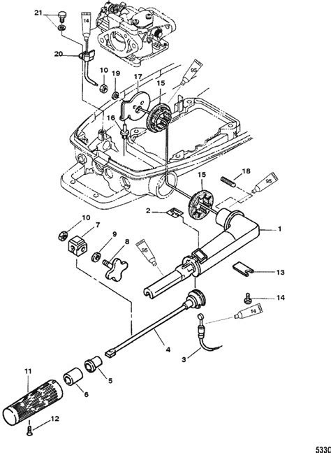 Mariner 5 HP (2-Stroke) Throttle Components Parts