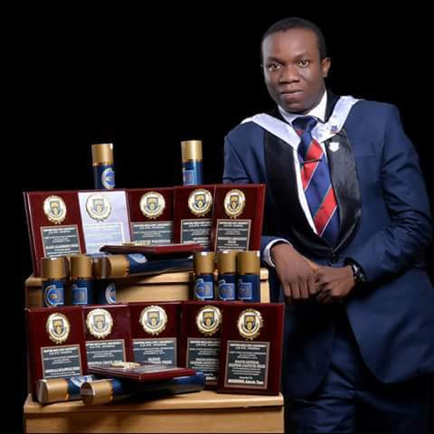 PHOTOS: MEET AKINBOWA ADEOLU THE BEST GRADUATING STUDENT OF OAU WHO JUST WON 12 AWARDS AT THEIR CONVOCATION
