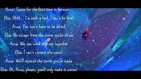For The First Time And Forever Frozen Lyrics