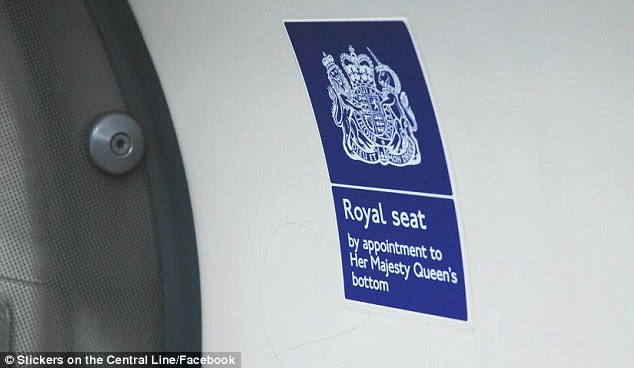VIP seating: Should the Queen decide to test the capital's public transport system, there is a seat reserved for her on this Tube