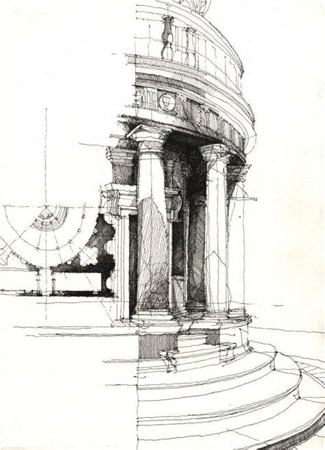 architectural sketches freehand sketches art black