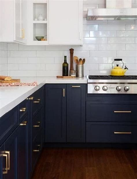 midnight blue kitchen cabinets   colourtrends