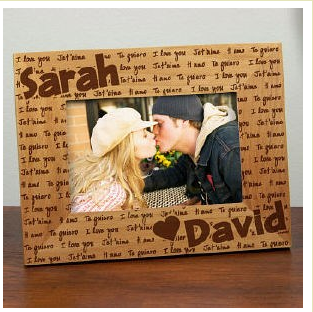 Custom Wood Picture Frame 21 Shipped 2 Names In Wood 7 Cash