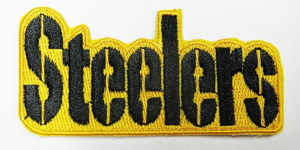 LOT OF 1 NFL STEELERS EMBROIDERED NAME IRONON PATCH 3quot; X 1 1/2quot; ITEM  33  eBay