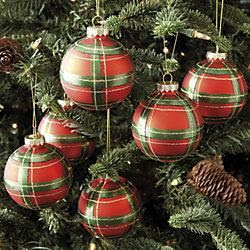 Plaid ornaments...