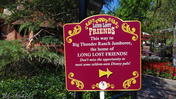 Disneyland, Long Lost Friends, sign