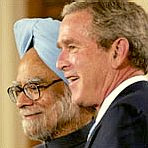 Prime Minister Singh and President Bush