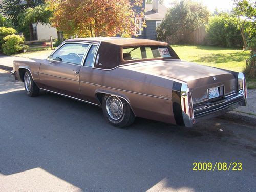 Sell used 1983 Cadillac DeVille d'Elegance Coupe 2-Door 4 ...