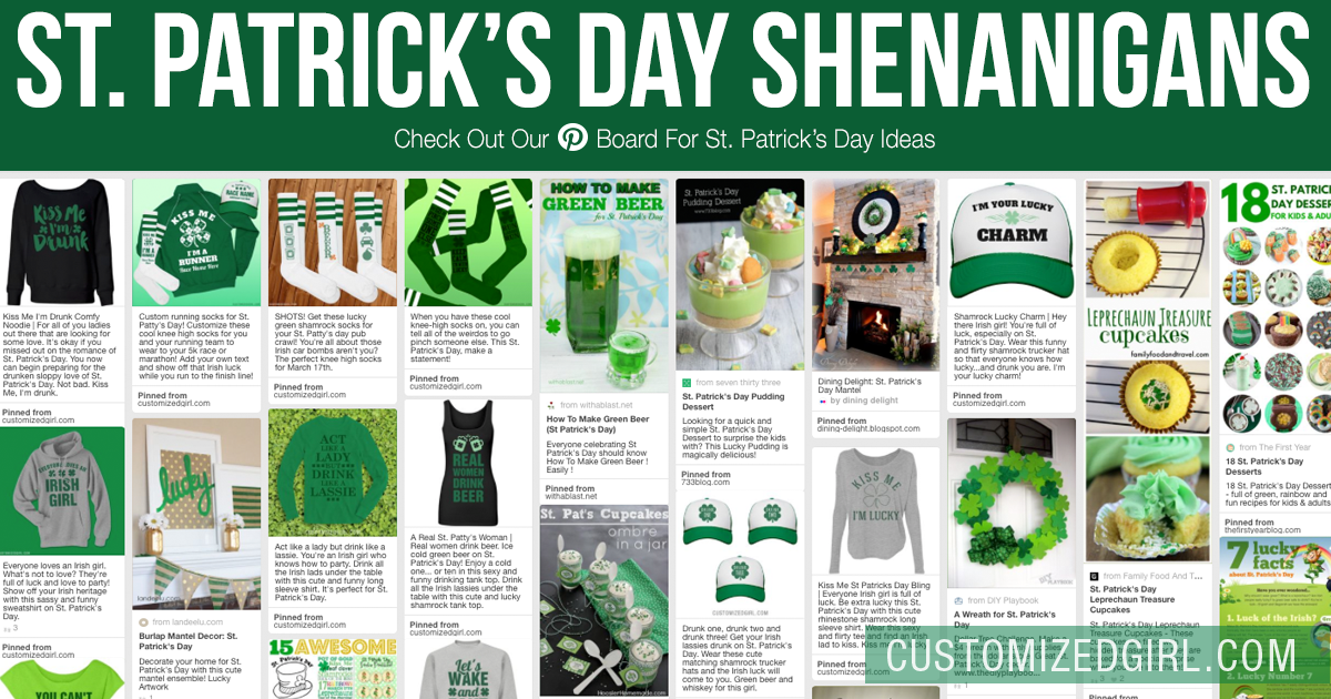 St Patricks Day Pinterest Ideas Customizedgirl Blog