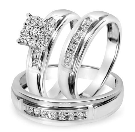 wedding rings trio wedding ring sets jared walmart wedding