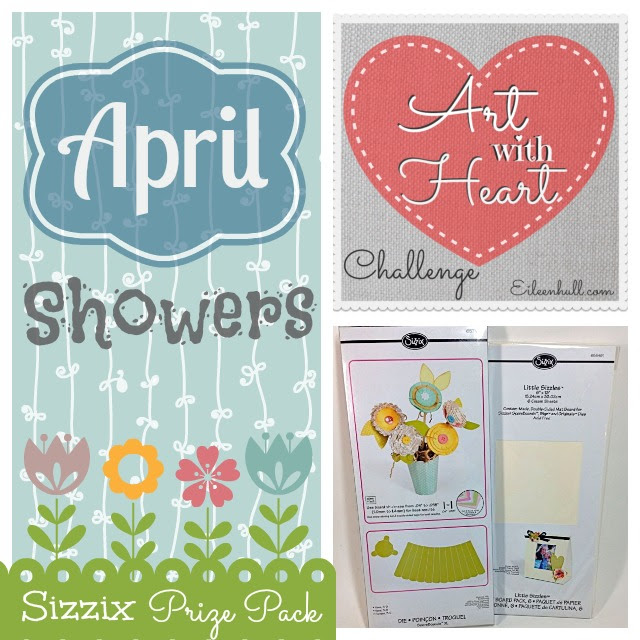 Art with Heart Challenge {April} Sizzix Prize Pack | Eileenhull.com