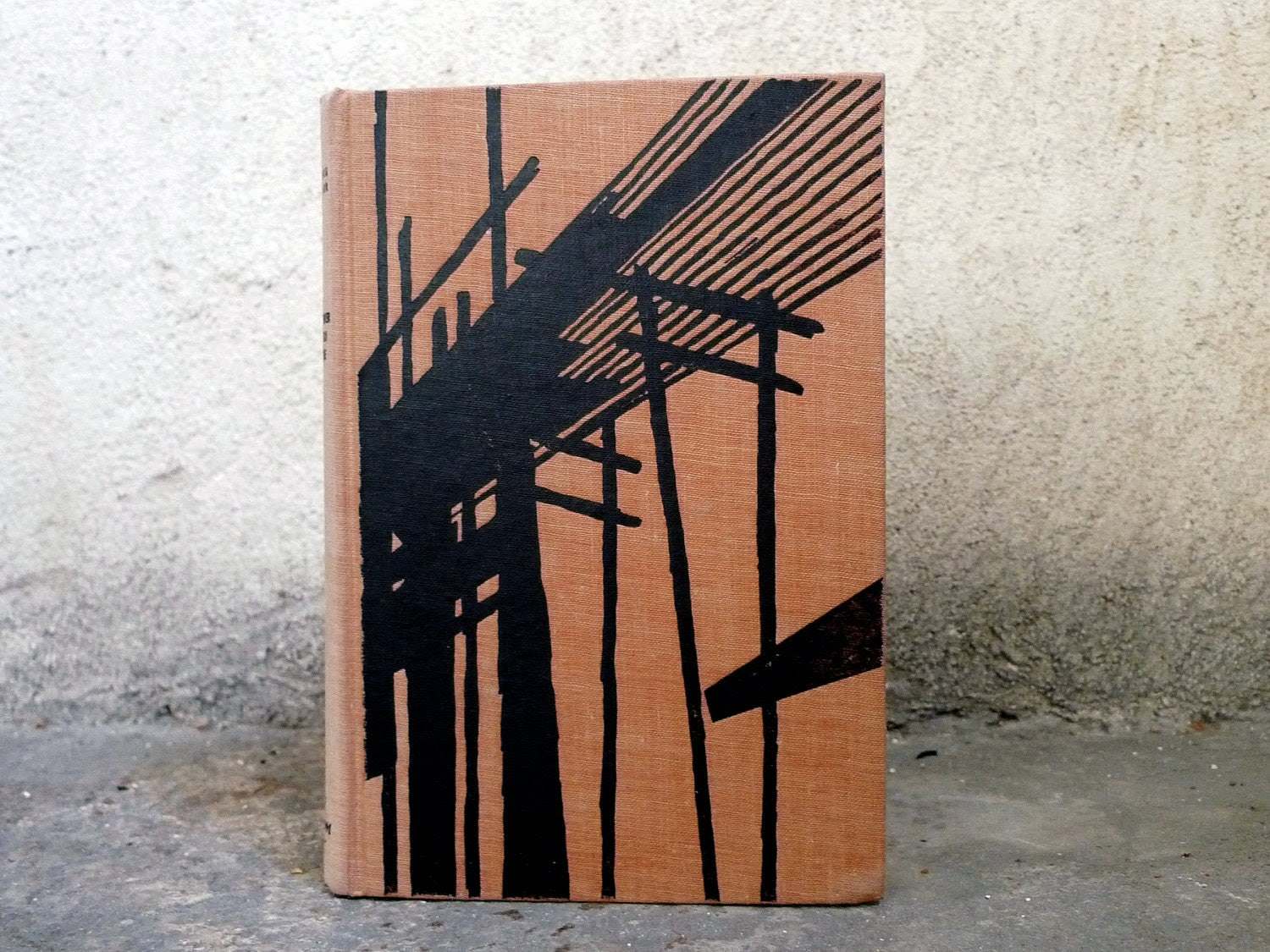 Rebound Retro Journal Upcycled French Vintage Book in Orange and Black - Spellbinderie
