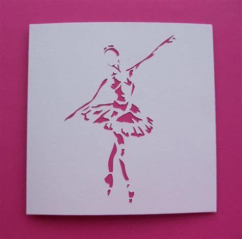 Handmade Ballet Card   Ballerina Card   Paper Cut
