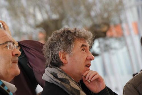Darío Urzay en el atrio de la Torre Iberdrola