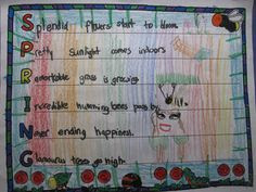 Spring, Poem and Acrostic poems on Pinterest