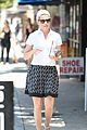 elizabeth banks steps out in skirt and heels for coffee run 05