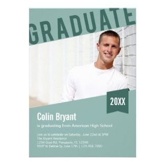 Slanted Photo Graduation Invitation