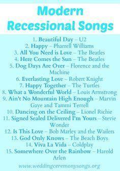 Wedding Recessional Songs on Pinterest   Wedding Songs