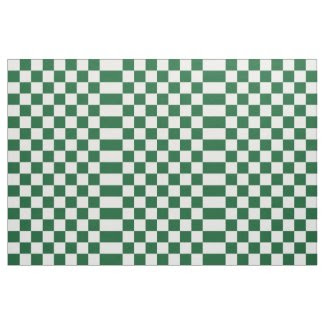 Checkered Green and White Fabric