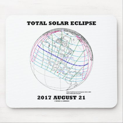 Total Solar Eclipse 2017 August 21 North America Mouse Pad