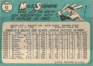 #43 Mike Shannon (back)