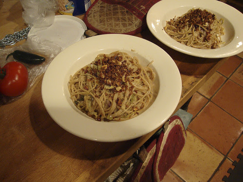 Pasta with Braised Cabbage and Duck Prosciutto