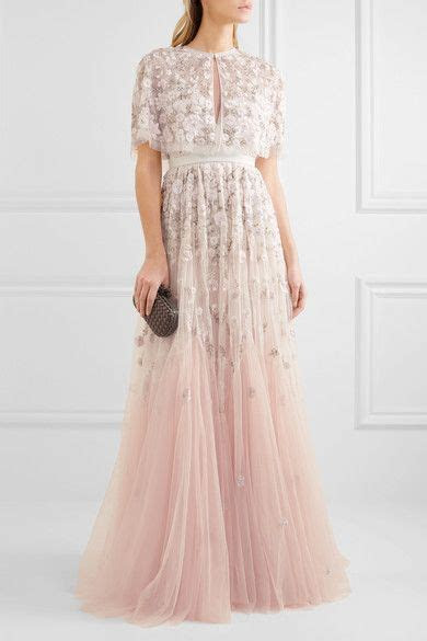 Needle & Thread   Embellished embroidered tulle gown in