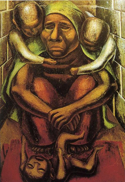 Image result for and Siqueiros Proletarian Mother (1929) from the Museo Nacional de Arte.