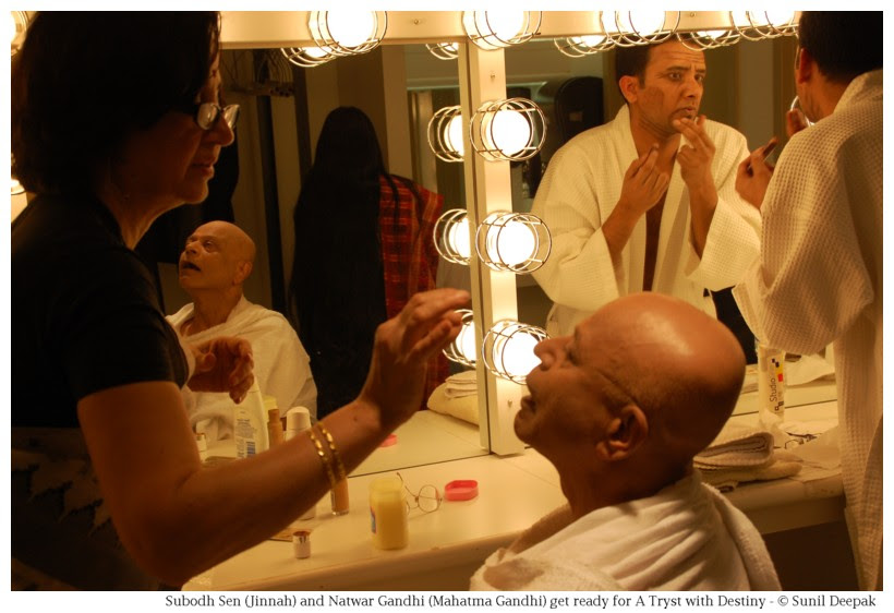 Artists getting ready for dance and theatre performances