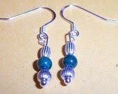Sara - Malachite and Sterling Silver Earrings Supporting Autism Awareness