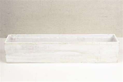 White 4x20 Planter Boxes Wood