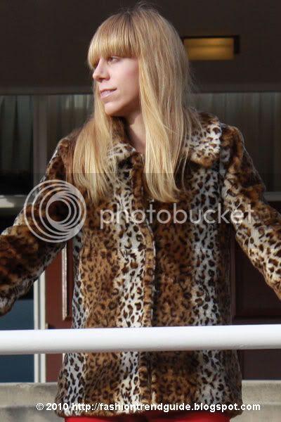 leopard faux fur jacket