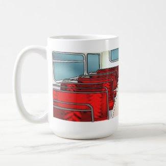 ghost on a bus Mug
