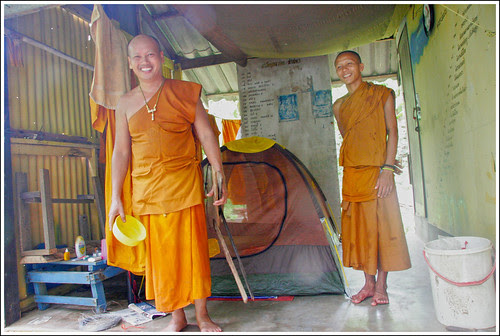 Monks at Koh Kaew Yai near Phuket