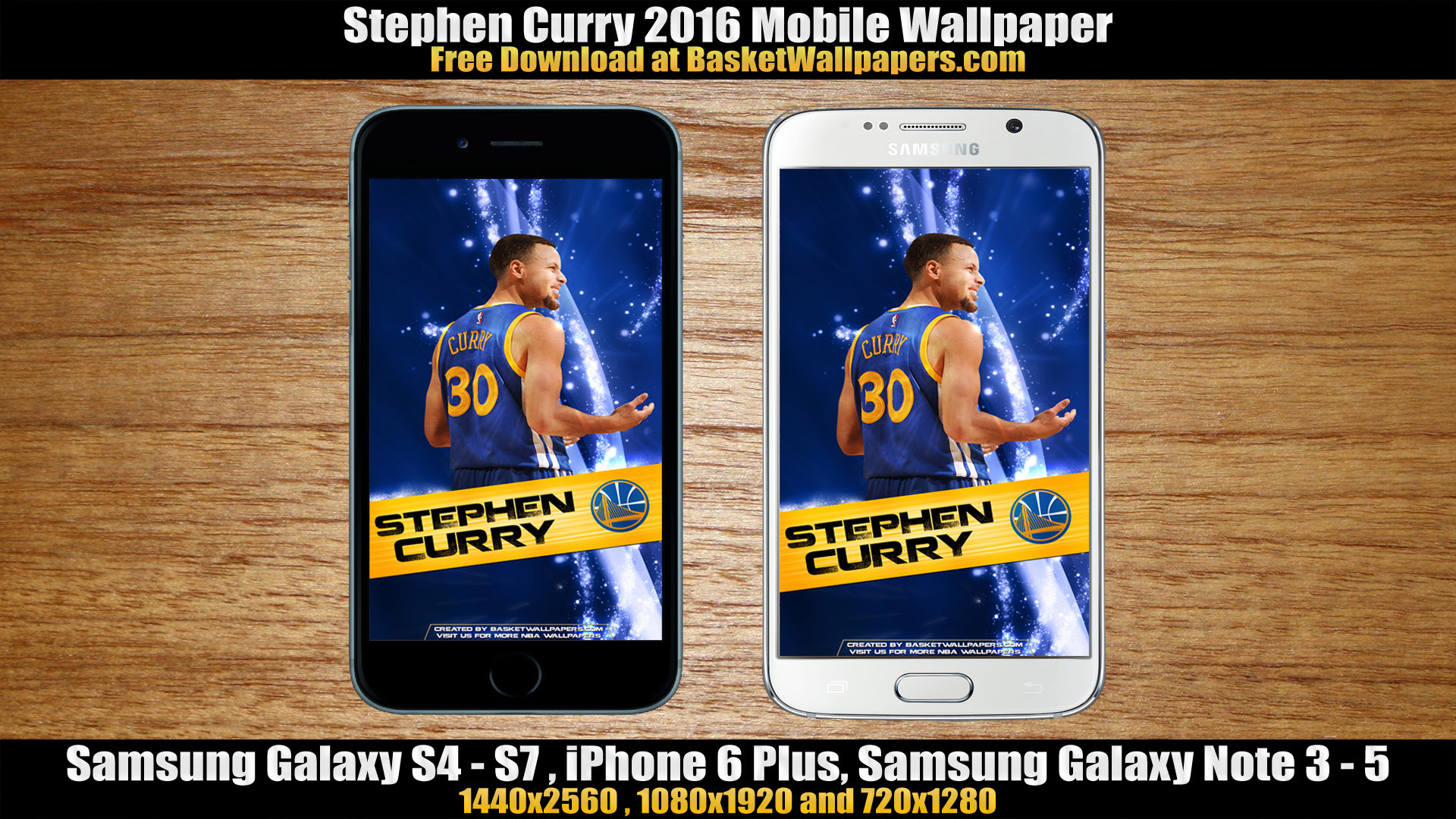 Stephen Curry Golden State Warriors 2016 Mobile Wallpaper