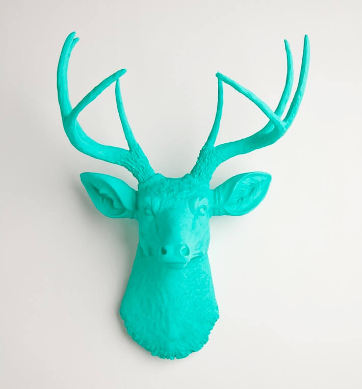 Turquoise deer head wall decor | HomeJelly