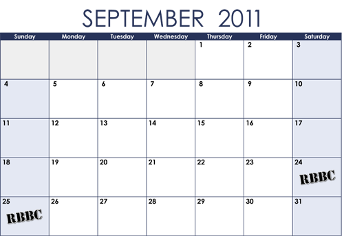 calendar september 2011. UPCOMING SCHEDULE. September