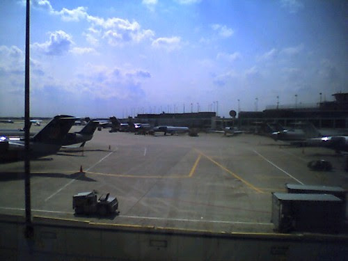 Chicago - plenty a planes but I have to wait for mine