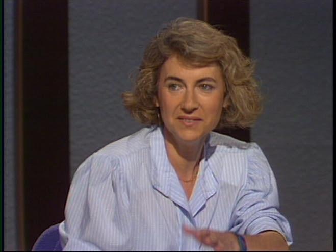 Muriel Casals l'any 1990, en un programa de TV3