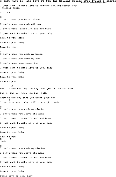 I Want To Be With You Baby Lyrics