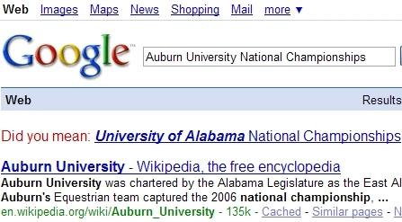 Silly Auburn...