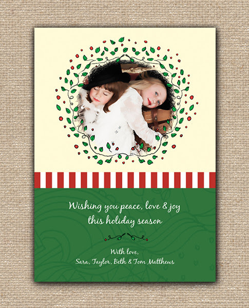Happy Holidays Announcement Design Card - DIY Printables, holiday, celebration, birthday, party, Hanukkah, Christmas