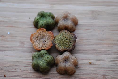 Green tea & ginger spice financiers