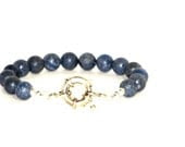 Blue Coral Bracelet, Dusty Blue Coral, Sterling Silver, Natural Sea Coral, Gifts Under 50 - recreated1