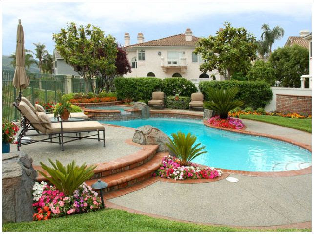 Backyards with Pools Decorating Ideas
