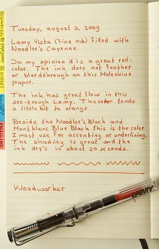 Noodler's Cayenne