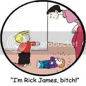 I'm Rick James, and I'm dead