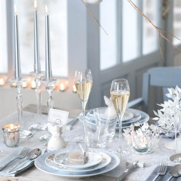 Decoration De Table De Noel Blanche