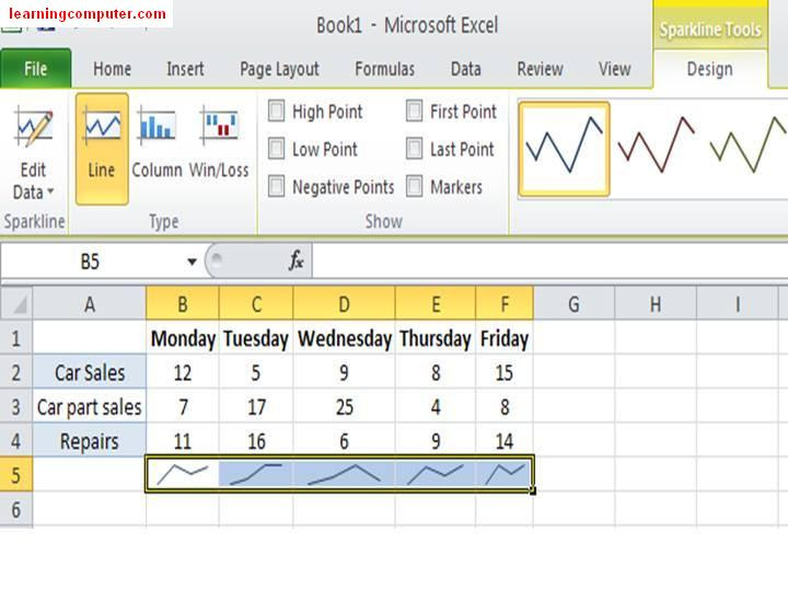 Excel 2010 - New Features of Sparkline